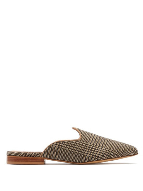 Giuliva Heritage Collection - Venetian Prince Of Wales Check Mules - Womens - Brown Multi