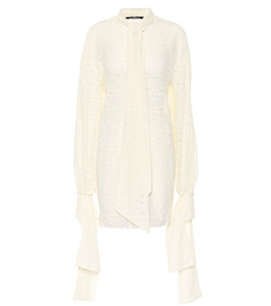 Rokh Cotton-blend lace shirt in white