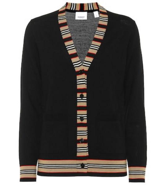 Burberry Merino wool cardigan in black