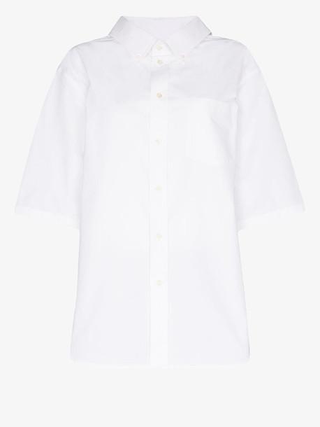 Balenciaga swing cotton poplin shirt in white