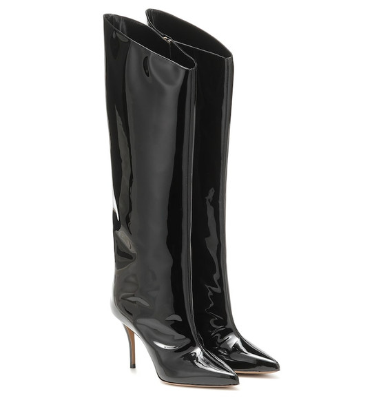 Alexandre Vauthier Alex patent leather knee-high boots in black