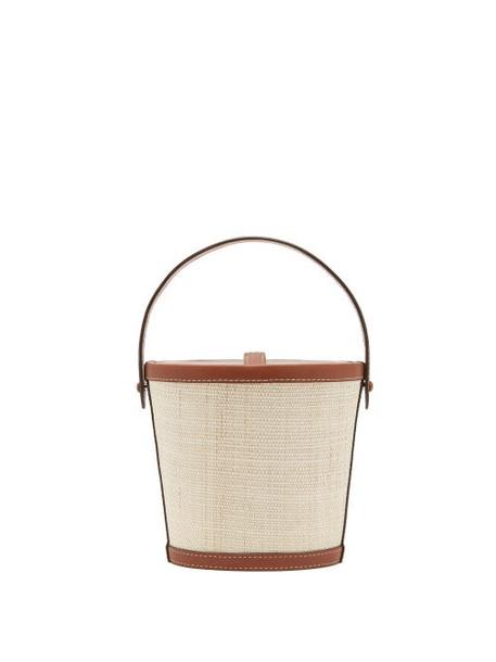 Hunting Season - The Bucket Rattan And Leather Bag - Womens - Tan