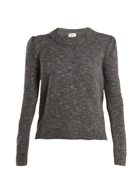Isa Arfen - Speckled Wool Blend Sweater - Womens - Dark Grey