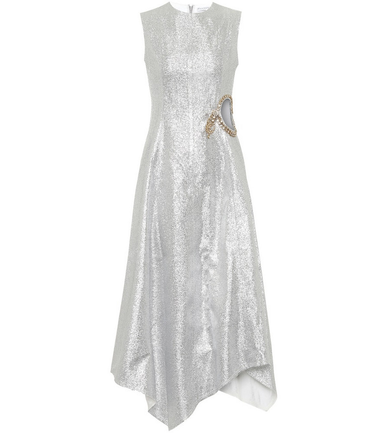 JW Anderson Embellished midi dress in silver