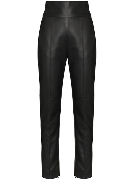 Alexandre Vauthier high rise fitted trousers in black