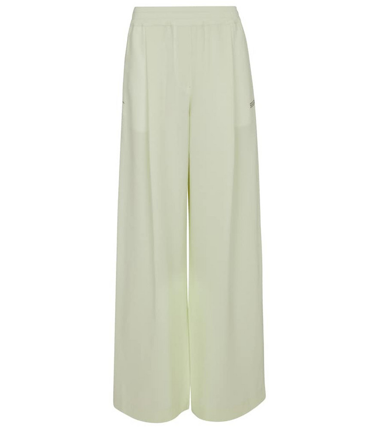 Off-White High-rise wide-leg pants in green