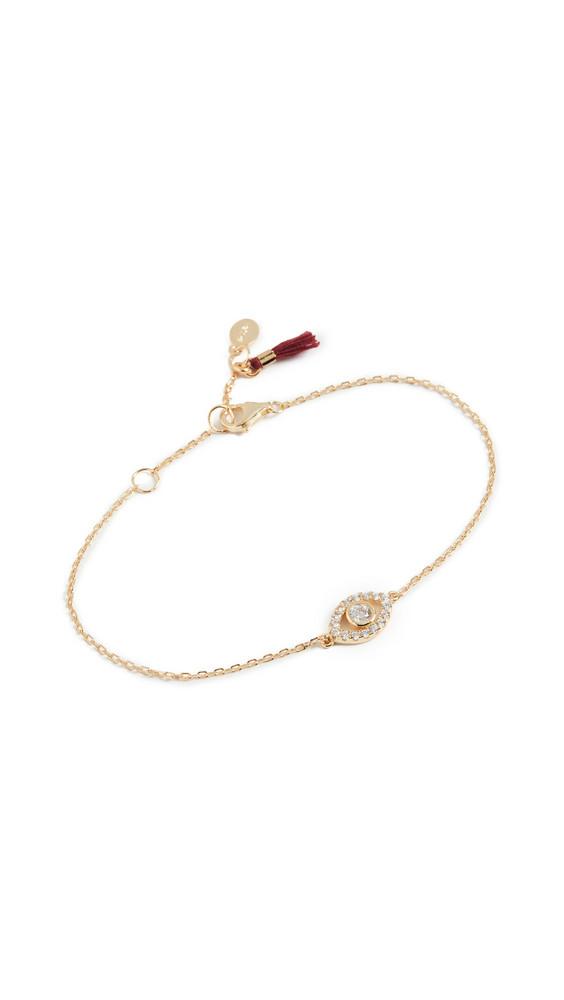 Shashi Evil Eye Pave Bracelet in gold