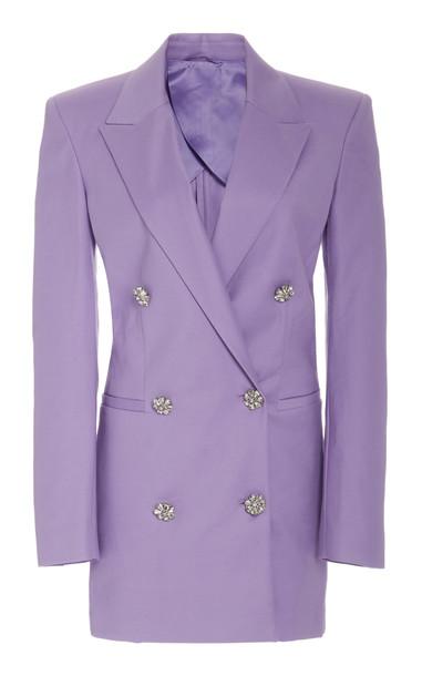 Attico Stretch Wool Blazer Dress in purple