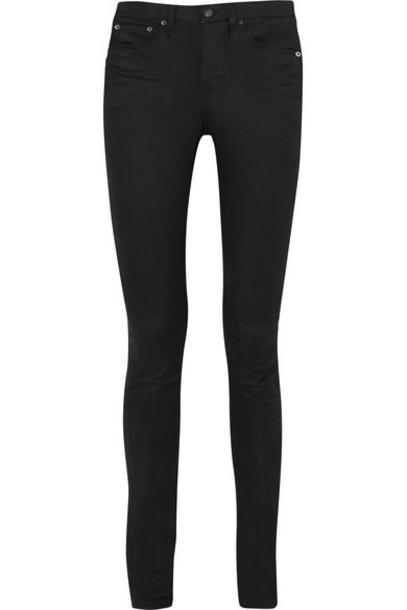 Saint Laurent - High-rise Skinny Jeans - Black