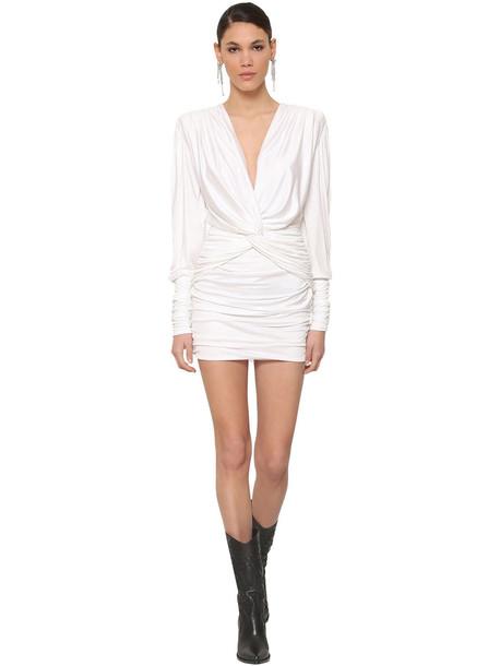 REDEMPTION Double Twist Viscose Mini Dress in white