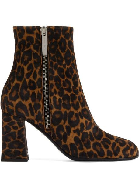 Giuseppe Zanotti Sveva 80mm leopard-print boots in brown