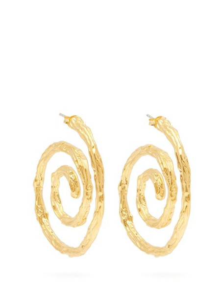 Lizzie Fortunato - Spiral Gold Plated Earrings - Womens - Gold