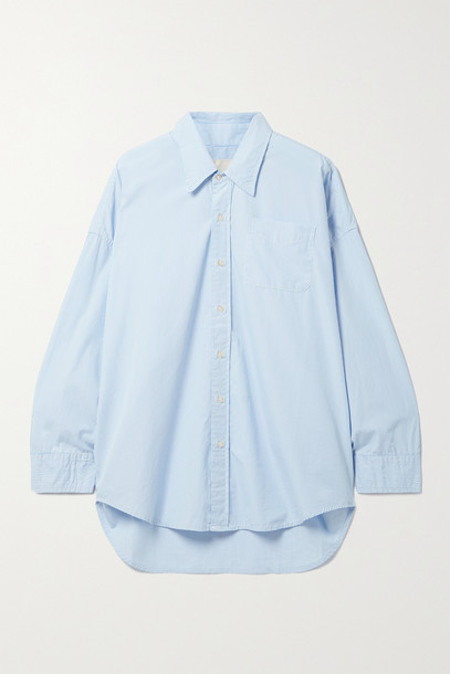 R13 - Oversized Striped Cotton Oxford Shirt - Blue