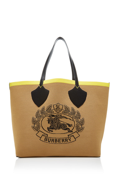Burberry The Giant Crest-Detailed Canvas Tote in multi