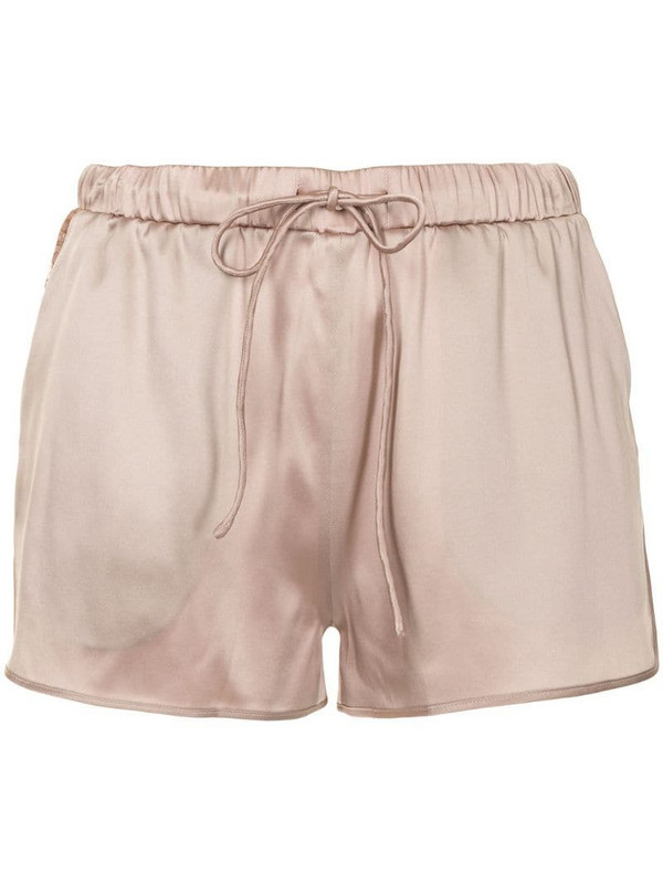 Carine Gilson high-waist satin shorts in pink