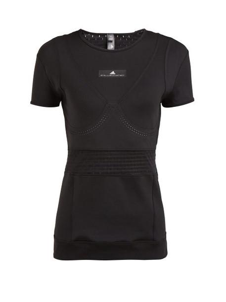 Adidas By Stella Mccartney - Train Fitted T Shirt - Womens - Black