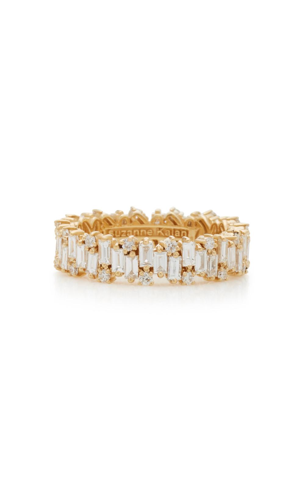 Suzanne Kalan 18K Gold Diamond Ring in white