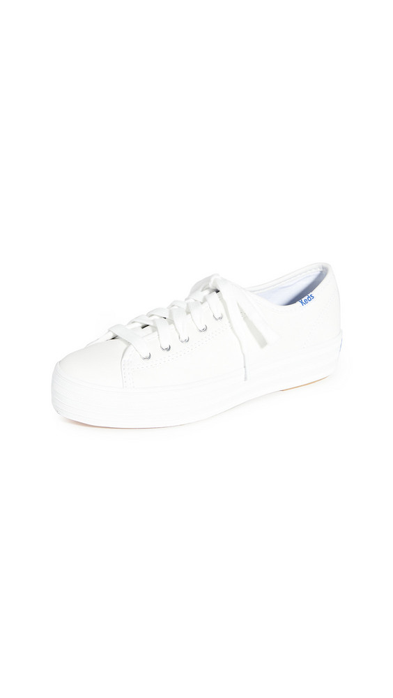 Keds Triple Kick Leather Sneakers in white