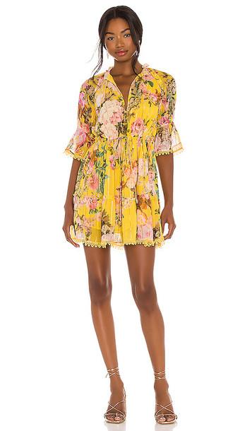HEMANT AND NANDITA X REVOLVE Fluer Mini Dress in Yellow