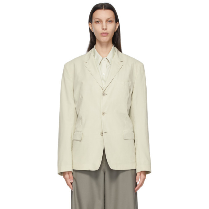 Lemaire Beige Ventile® Soft Single Breasted Blazer in grey