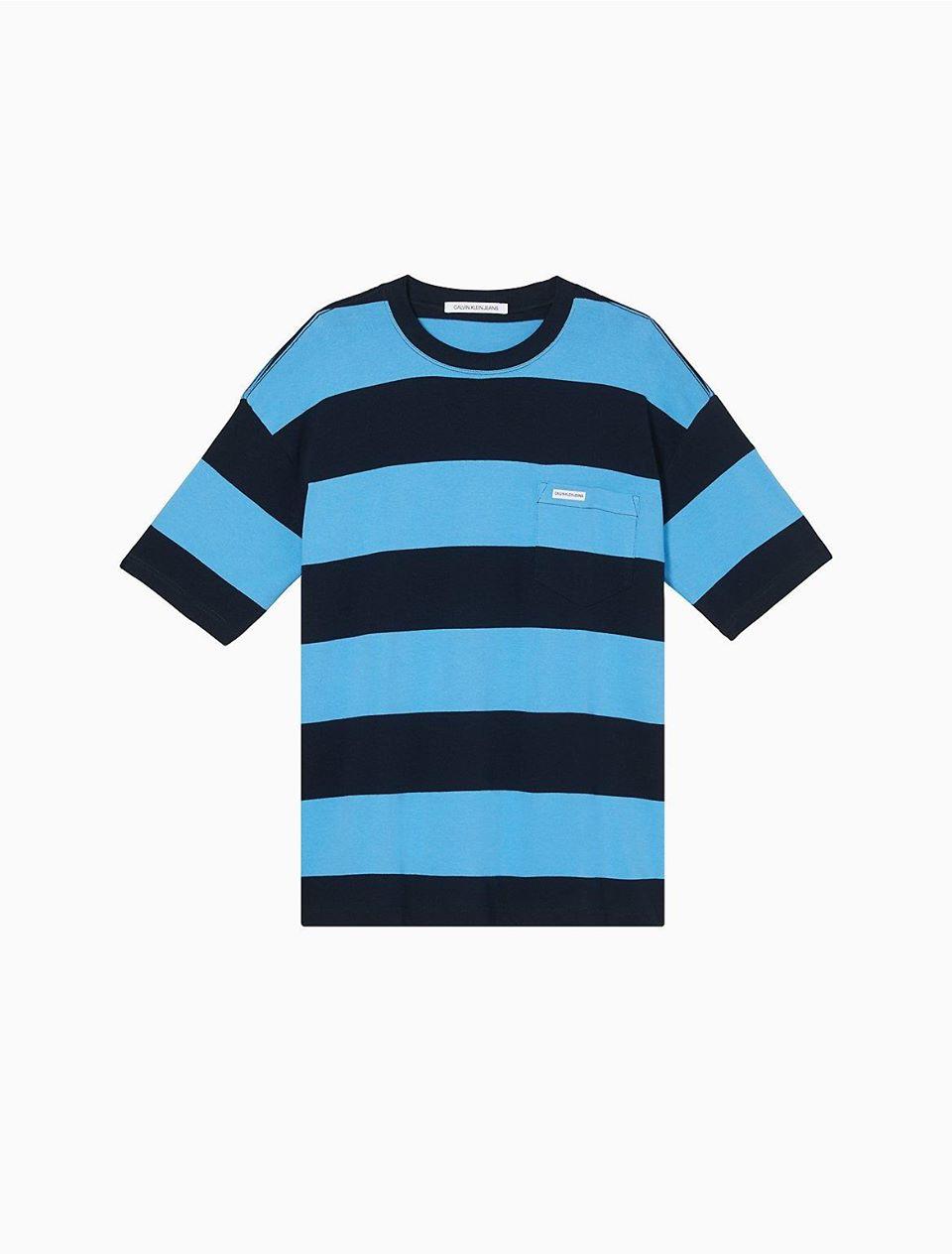 Wide Stripe Pocket T-Shirt