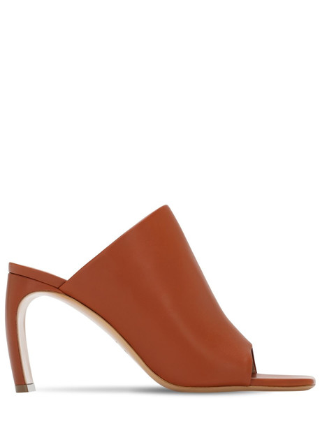 LANVIN 80mm Leather Mules in tan