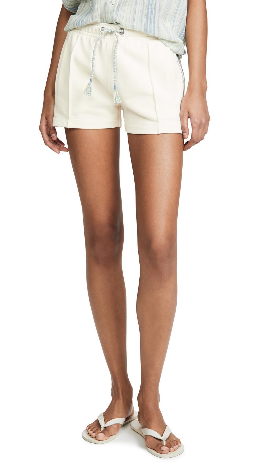 Rag & Bone/JEAN Molly Striped Trim Shorts in ivory