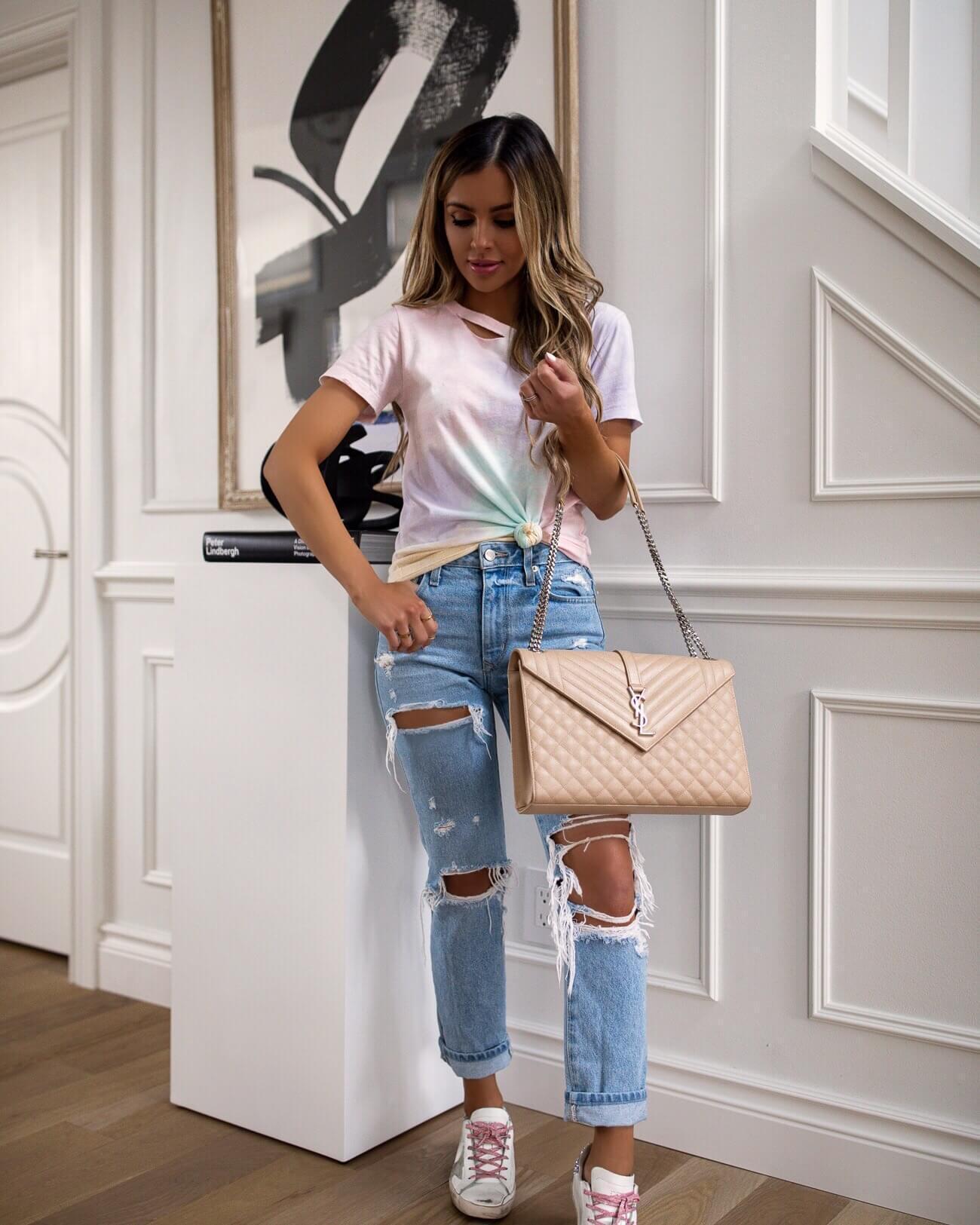 maria vizuete mia mia mine blogger t-shirt bag shoes