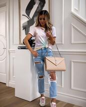 maria vizuete,mia mia mine,blogger,t-shirt,bag,shoes