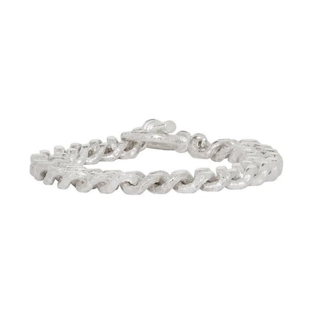 Pearls Before Swine Silver Sliced Link Bracelet