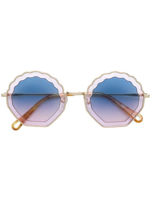 Chloé Eyewear shell shaped sunglasses in yellow