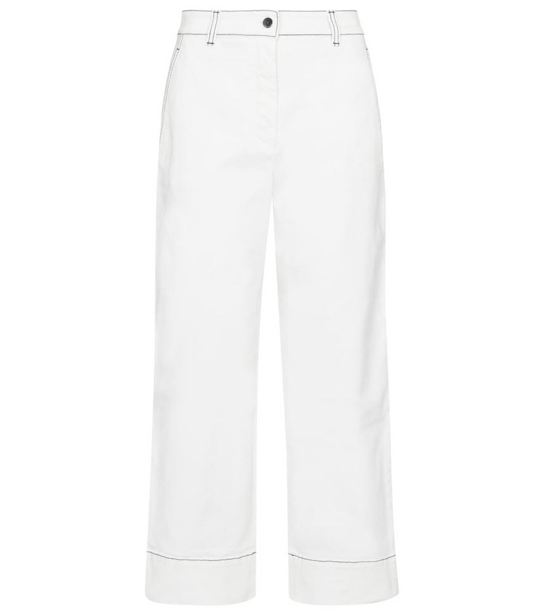 Loro Piana Wallace high-rise straight jeans in white
