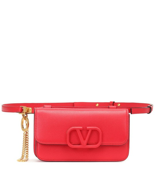 Valentino Garavani VSLING leather belt bag in red