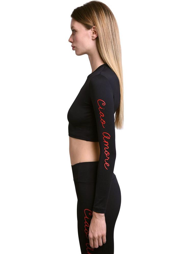 GIADA BENINCASA Seampless Printed Sport Top in black
