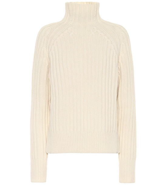Polo Ralph Lauren Ribbed wool and cashmere sweater in white