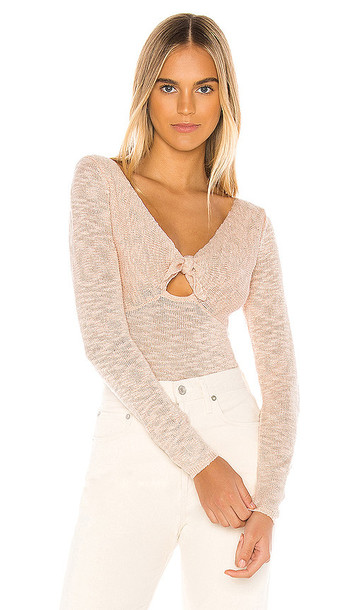 MAJORELLE Bolero Sweater in Pink
