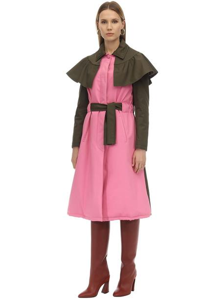 PARCOATS Eva Tech Cotton Trench Coat in pink / beige