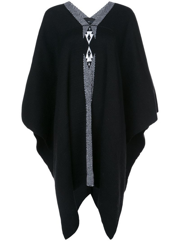 VOZ knitted poncho in black