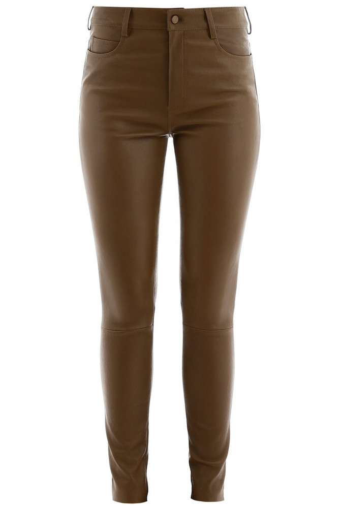 DROMe Stretch Nappa Trousers in khaki