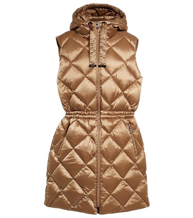 BOGNER Aliya hooded down vest in beige