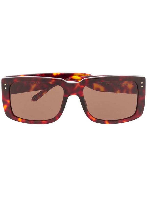 Linda Farrow Morisson rectangle frame sunglasses in brown
