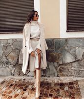 dress,turtleneck dress