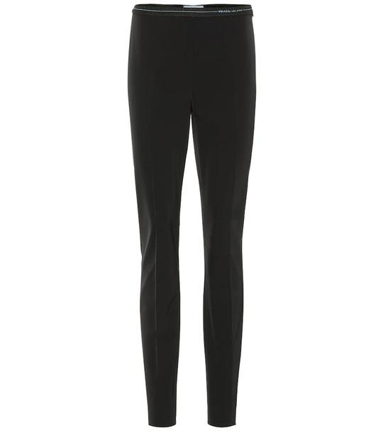 Prada Skinny stretch pants in black