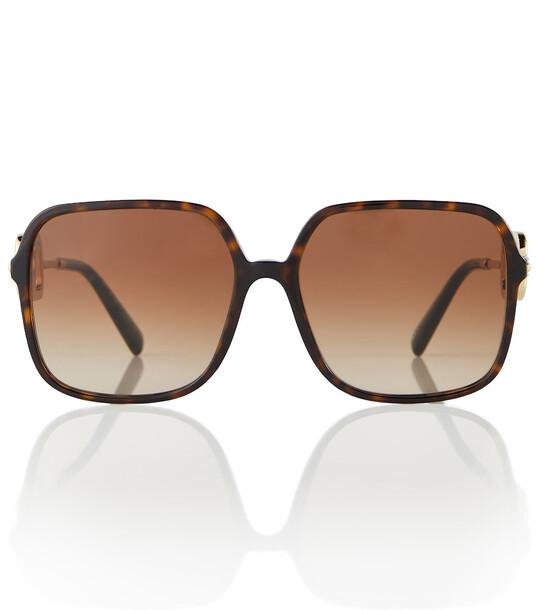 Valentino VLOGO oversized sunglasses in brown
