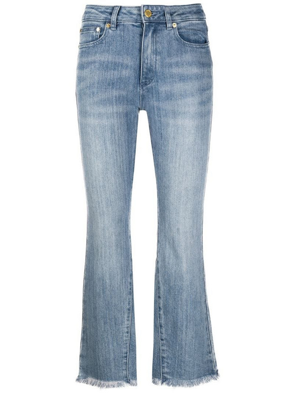 Michael Michael Kors high-rise cropped kick-flare jeans in blue