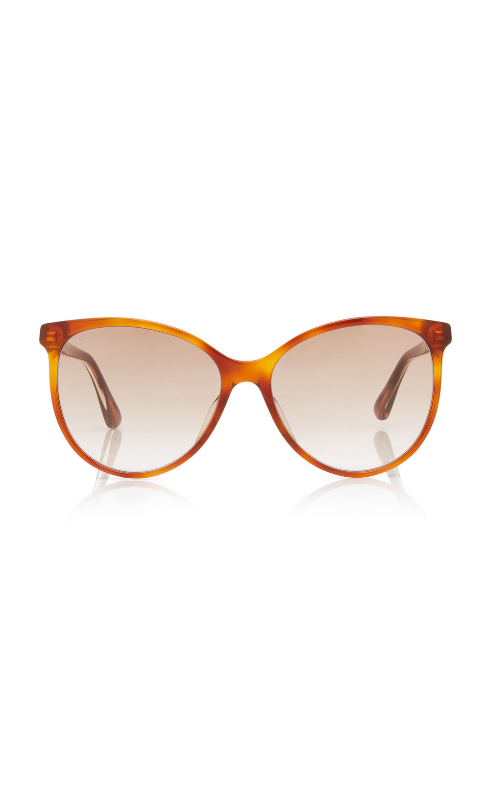 Gucci Sunglasses Web Acetate Cat-Eye Sunglasses in brown
