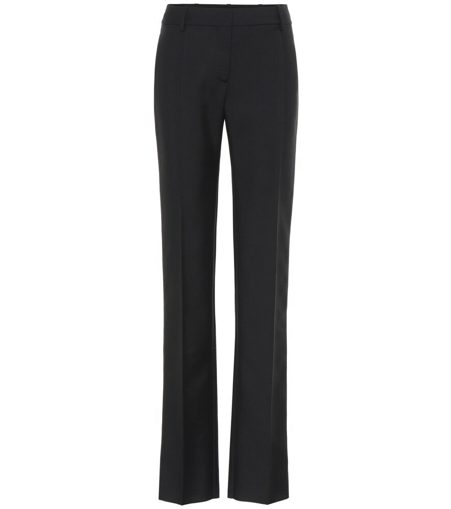 Valentino High-rise straight pants in black