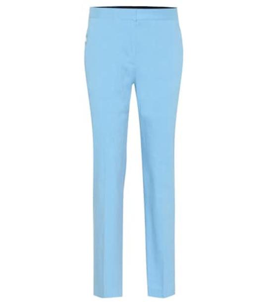 Rag & Bone Poppy Tab linen-blend pants in blue