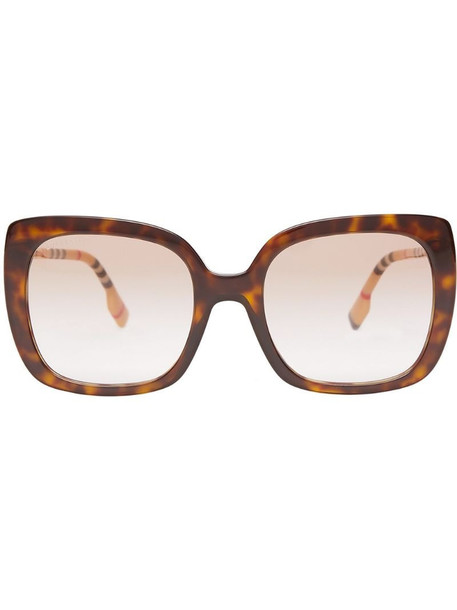 Burberry oversized square frame sunglasses in brown