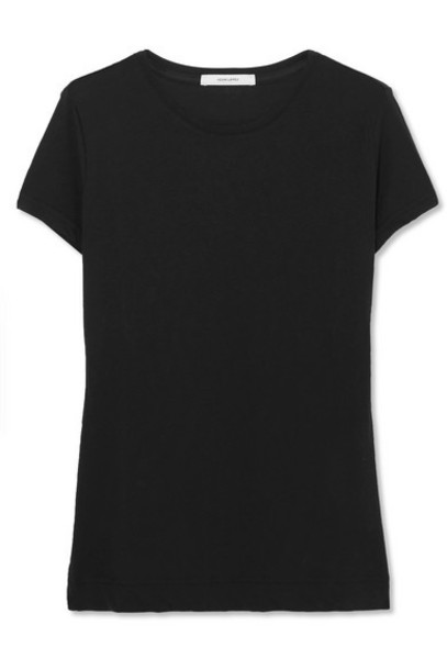 Adam Lippes - Pima Cotton-jersey T-shirt - Black
